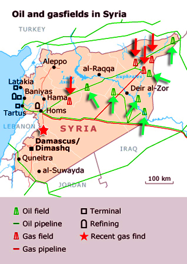 Syria Oil Map - Syria War