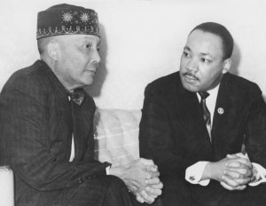 Rev. Dr. Martin Luther King Jr. and the Most Honorable Elijah Muhammad meet in 1966.
