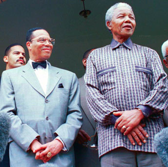 Minister Farrakhan and President Mandela met in 1996 at the president's private residence in the Houghton District of Johannesburg, South Africa, where Mr. Mandela received only his most distinguished state visitors. Photo: Final Call archives